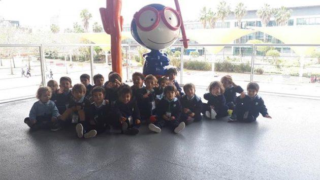 Os brincalhões adoraram a visita ao Oceanário